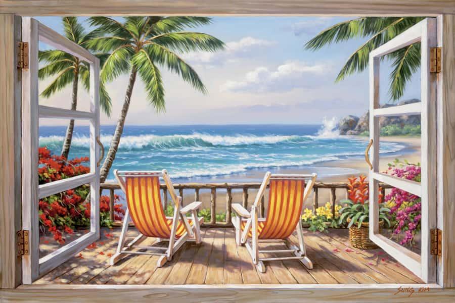 mẫu vẽ tranh phòng khách