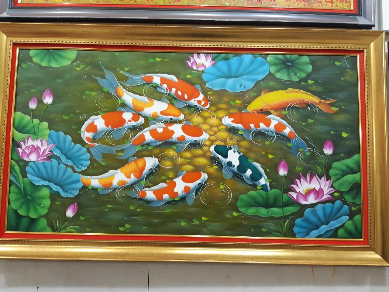 tranh cá 3d