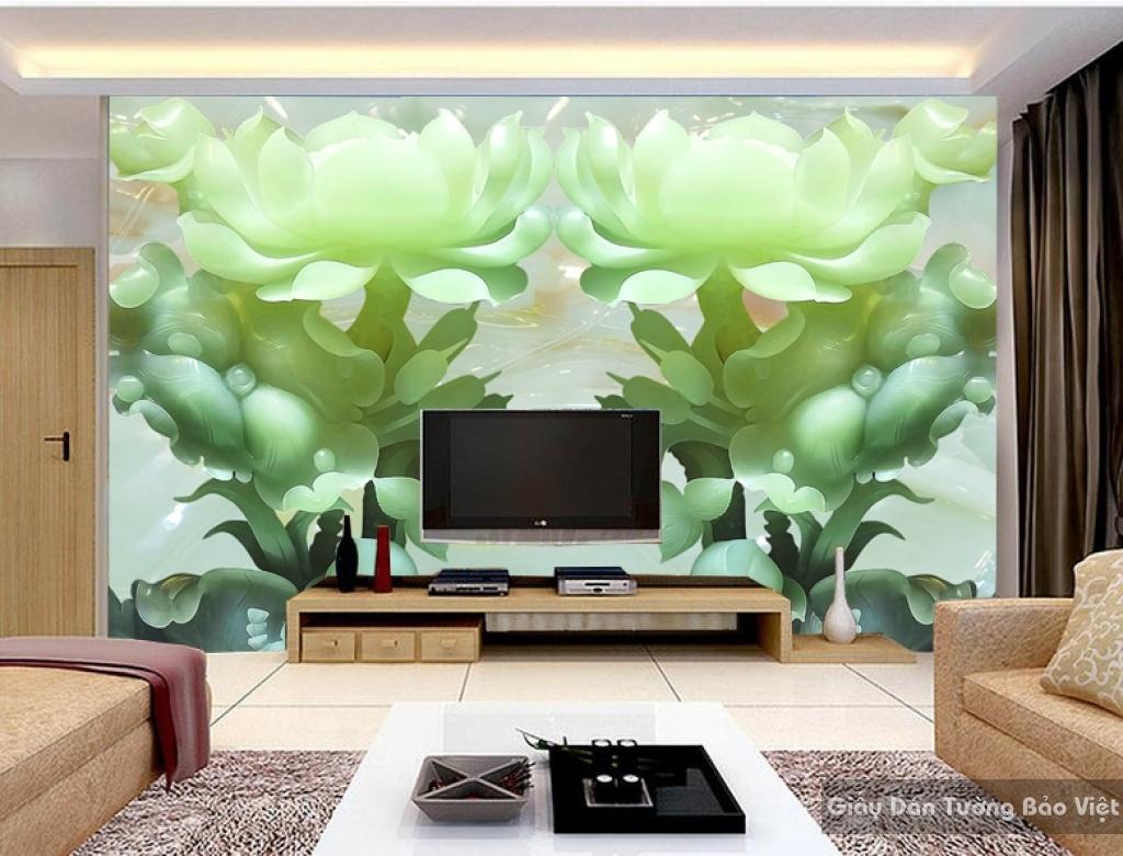 tranh dán tường đẹp phòng khách