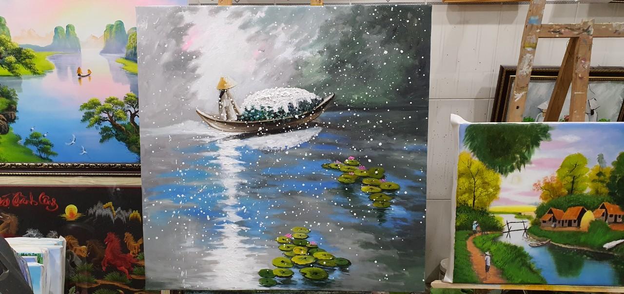 tranh sươn dầu nghệ thuật
