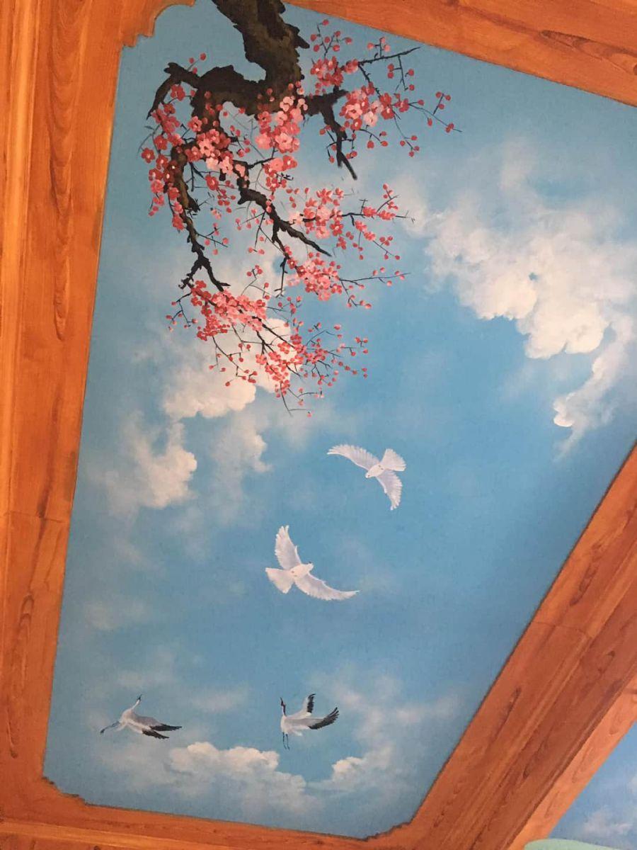 tranh trần mây đẹp