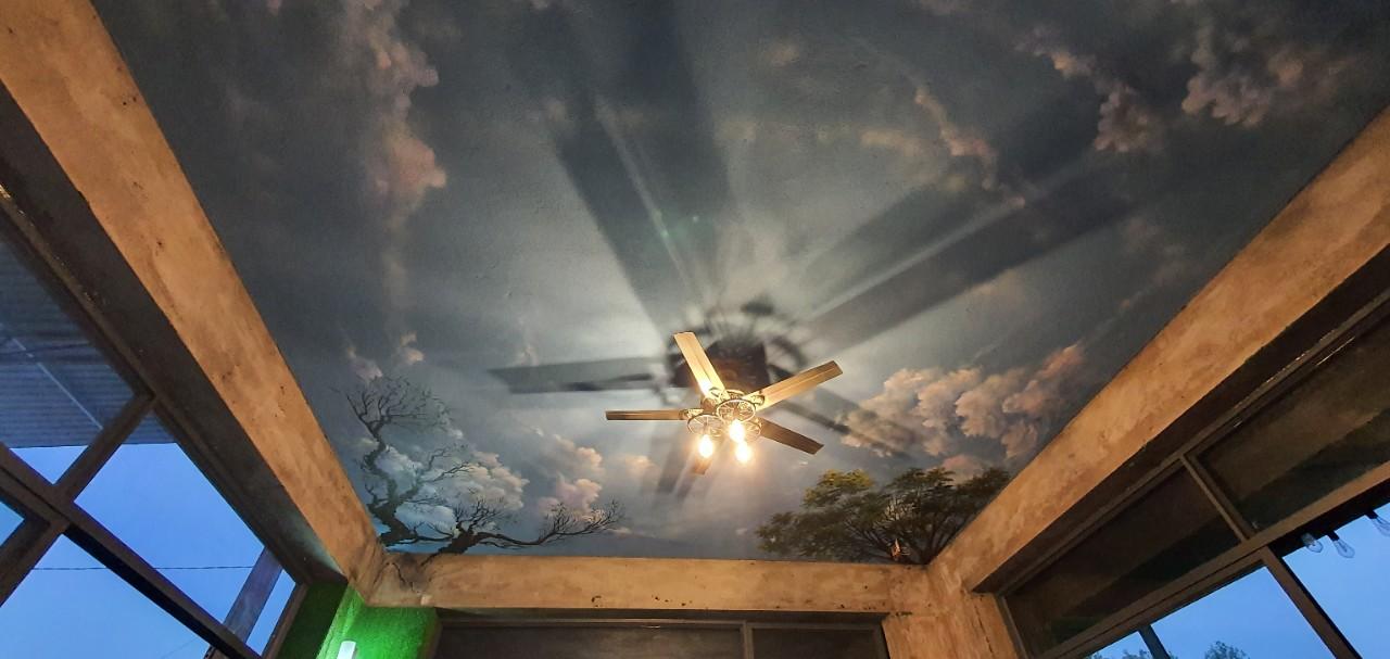 tranh trần mây