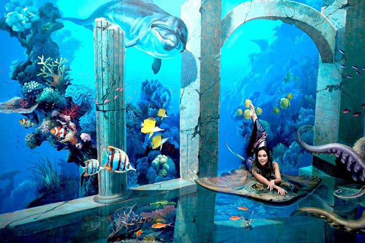 vẽ tranh 3d đại dương