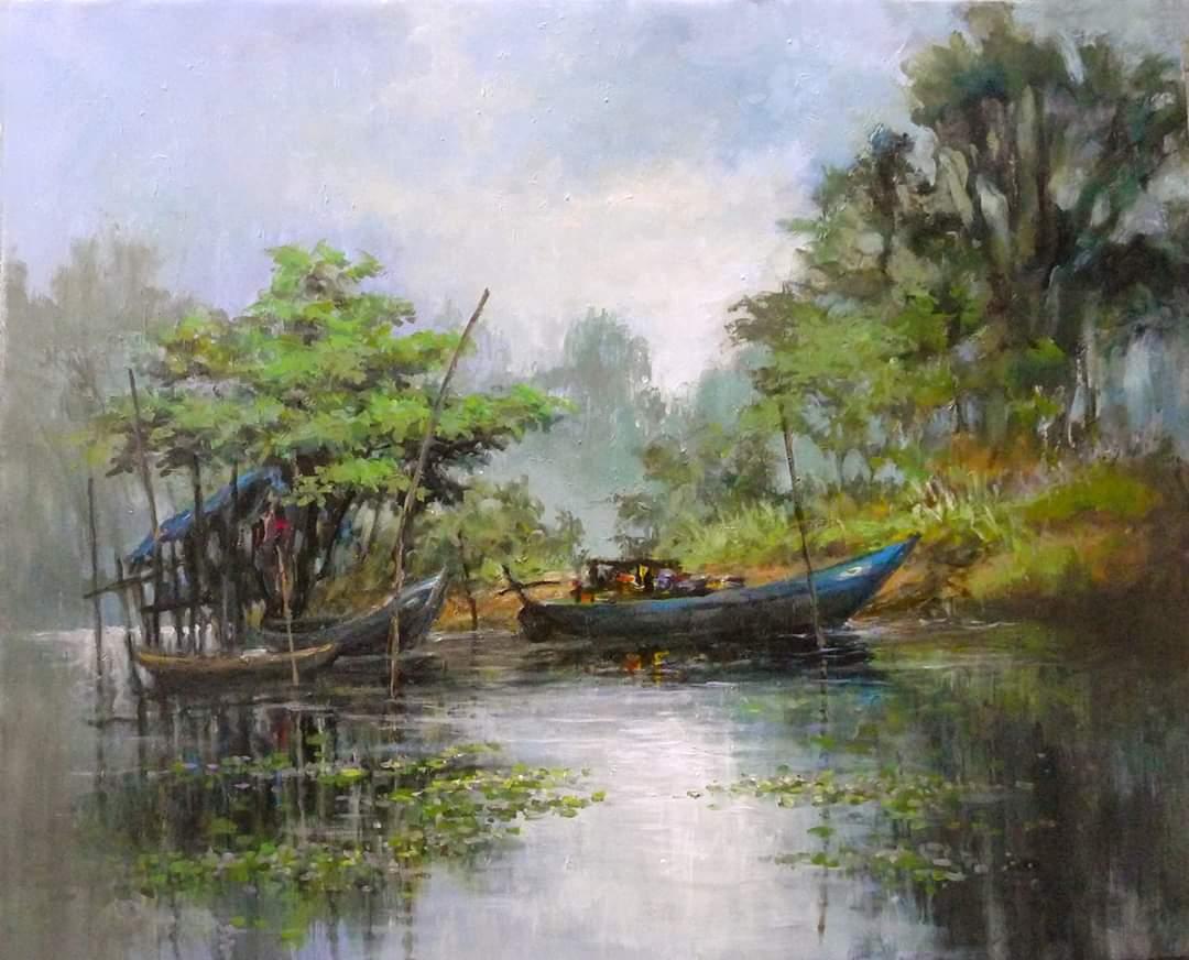 vẽ tranh phong cảnh nghệ thuật