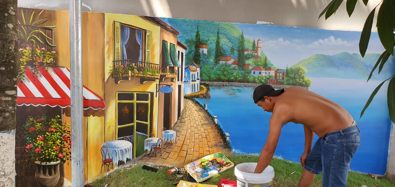 vẽ tranh quán cafe biên hòa