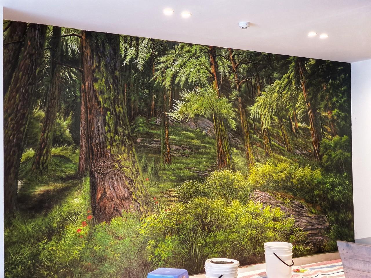 vẽ tranh rừng cây