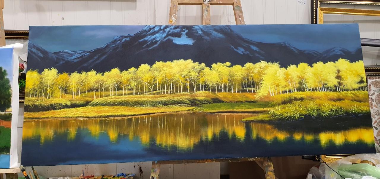 vẽ tranh sơn dầu phong cảnh