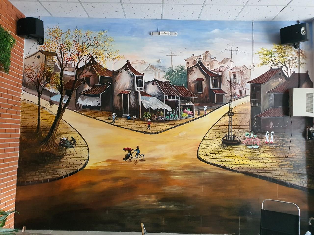vẽ tranh tường quán cafe đồng nai (2)