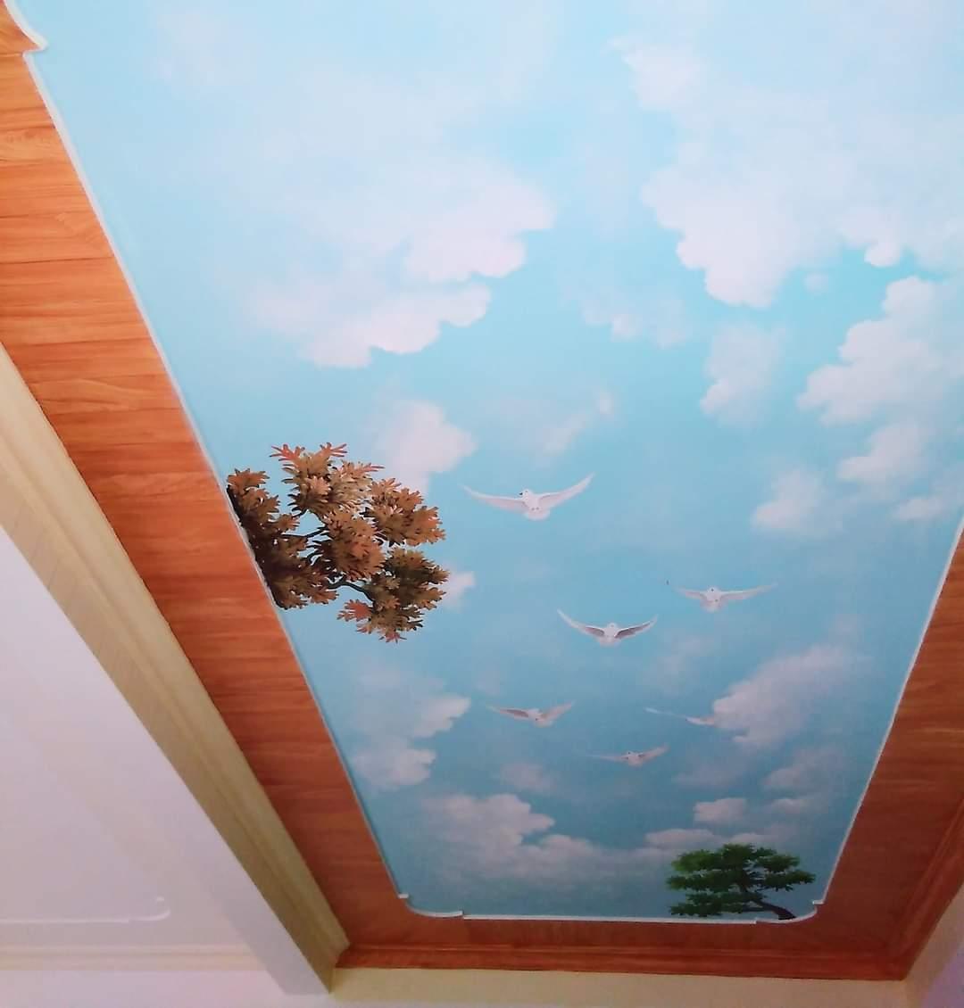 vẽ tranh trần mây biên hòa